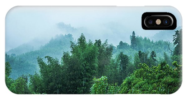 IPhone Case featuring the photograph Mountains Scenery In The Mist by Carl Ning