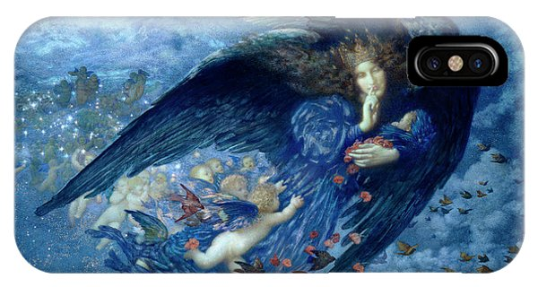 Trains iPhone Case - Night With Her Train Of Stars by Edward Robert Hughes