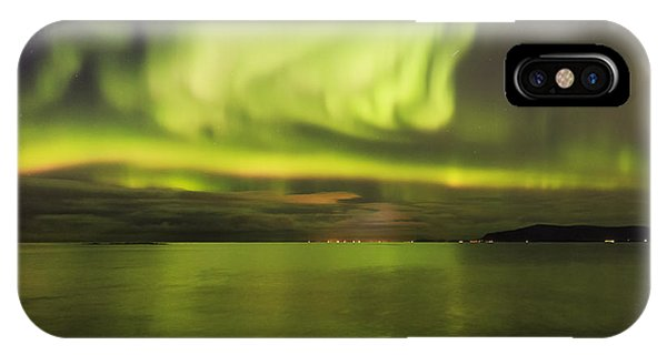 Northern Lights Reykjavik IPhone Case