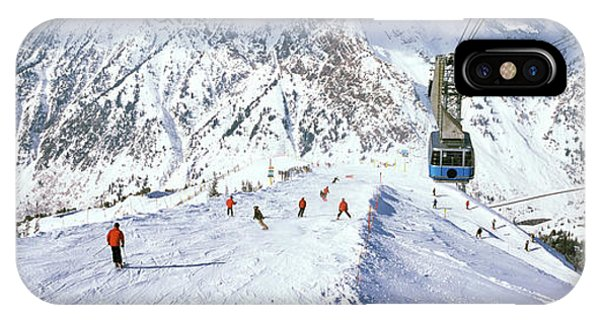 Overhead Cable Car In A Ski Resort IPhone Case