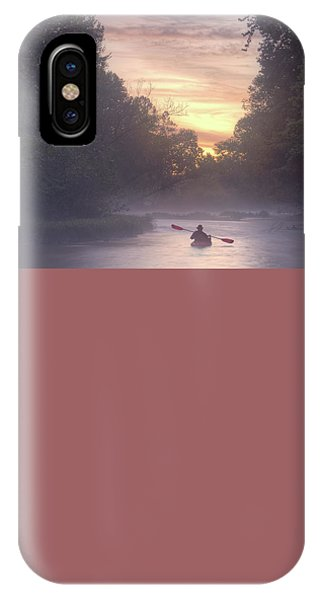 Paddling In Mist IPhone Case