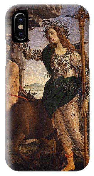 Centaur iPhone Case - Pallas And The Centaur by Sandro Botticelli