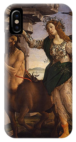 Botticelli iPhone Case - Pallas And The Centaur by Sandro Botticelli