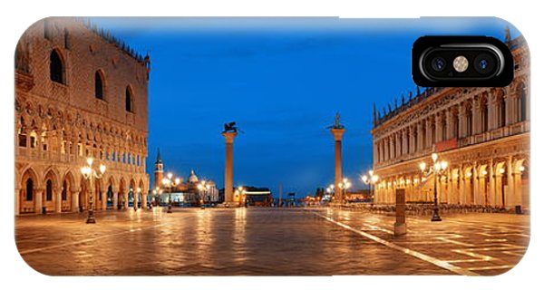 IPhone Case featuring the photograph Piazza San Marco Night by Songquan Deng