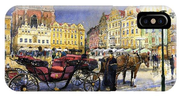 Cab iPhone Case - Prague Old Town Square by Yuriy Shevchuk