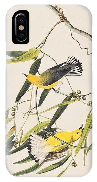 Audubon iPhone X Case - Prothonotary Warbler by John James Audubon