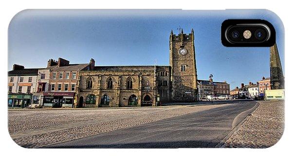 Market iPhone Case - Richmond, North Yorkshire by Smart Aviation