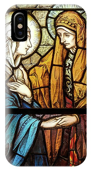 IPhone Case featuring the digital art Saint Anne's Windows by Jim Proctor