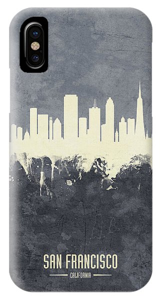 San Francisco iPhone Case - San Francisco California Skyline by Michael Tompsett