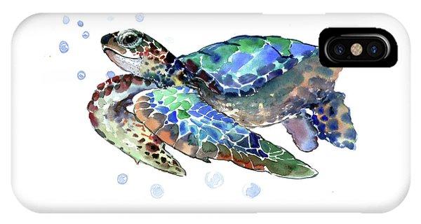 Turtle iPhone X Case - Sea Turtle by Suren Nersisyan