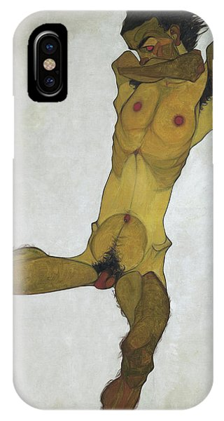 Sex And The City iPhone Case - Seated Male Nude by Egon Schiele