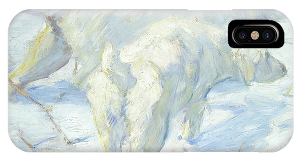 Siberian Dogs In The Snow IPhone Case