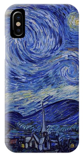 IPhone Case featuring the painting Starry Night by Van Gogh