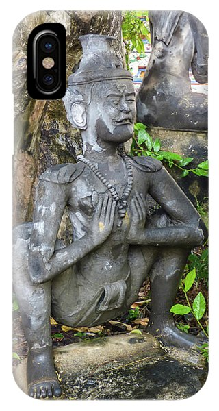 Statue Depicting A Thai Yoga Pose At Wat Pho Temple IPhone Case