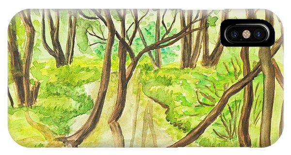 Summer Landscape, Painting IPhone Case