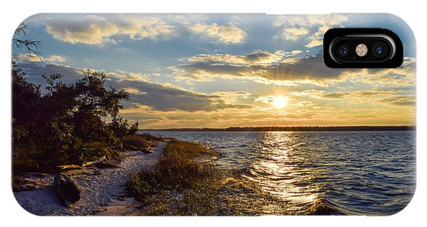 IPhone Case featuring the photograph Sunset On The Cape Fear River by Willard Killough III