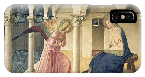 Columns iPhone Case - The Annunciation by Fra Angelico