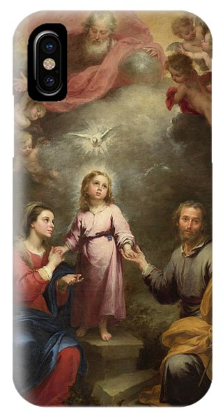 Staff iPhone Case - The Heavenly And Earthly Trinities by Bartolome Esteban Murillo