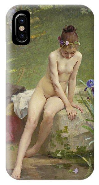 Lgbt iPhone Case - The Little Shepherdess by Paul Peel