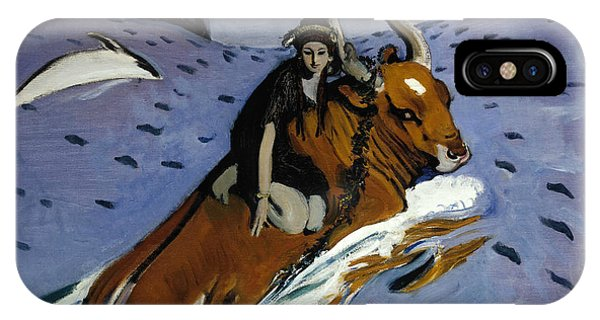 Russian Impressionism iPhone Case - The Rape Of Europa by Valentin Serov