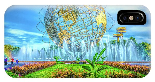 IPhone Case featuring the photograph The Unisphere by Theodore Jones