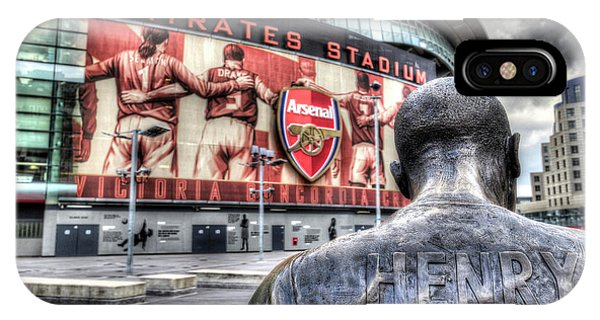 Thierry Henry Statue Emirates Stadium IPhone Case