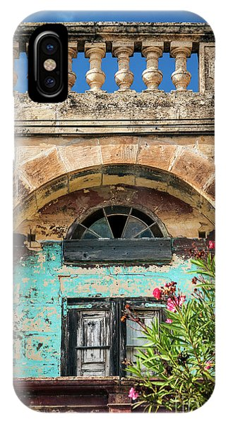 Traditional Mediterranean Maltese House Exterior Detail In Gozo  IPhone Case