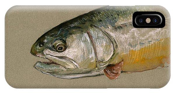 Trout iPhone Case - Trout Watercolor Painting by Juan  Bosco
