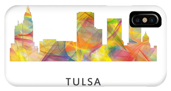 Ok iPhone Case - Tulsa Oklahoma Skyline by Marlene Watson