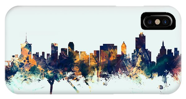Oklahoma iPhone Case - Tulsa Oklahoma Skyline by Michael Tompsett