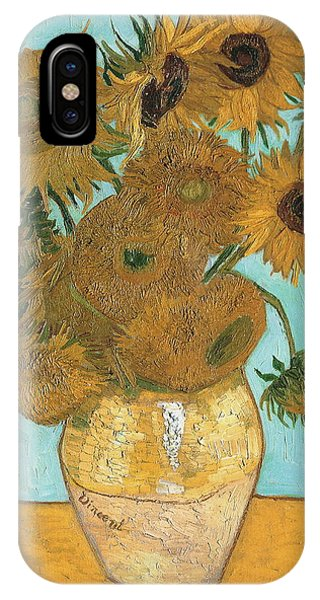 IPhone Case featuring the painting Vase With Twelve Sunflowers by Vincent Van Gogh