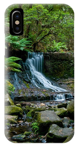Waterfall In Deep Forest IPhone Case