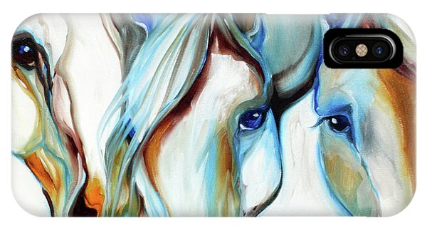 3 Wild Horses In Abstract IPhone Case