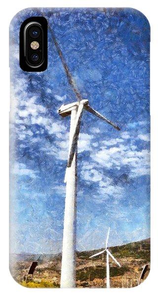 Pylon iPhone Case - Wind Turbines by George Atsametakis