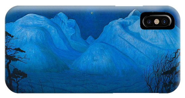 Winter Night In The Mountains IPhone Case