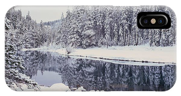 Winter Snowstorm In The Lake Tahoe IPhone Case