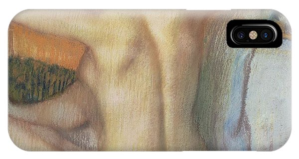 Figures iPhone Case - Woman Combing Her Hair by Edgar Degas