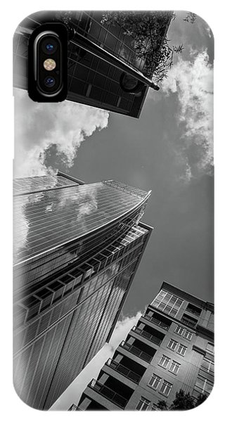 300 South Tryon In Black And White IPhone Case