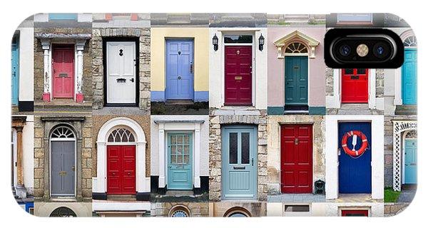 32 Front Doors Horizontal Collage  Phone Case by Richard Thomas