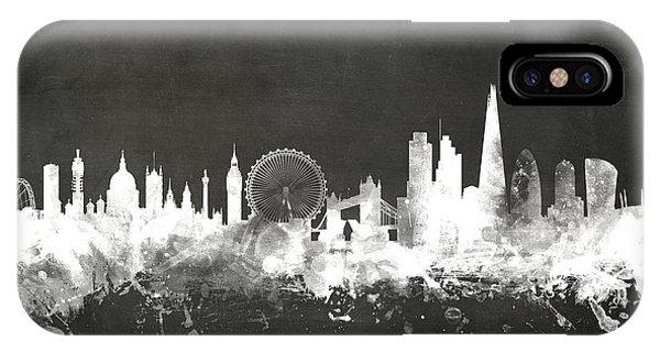 Board iPhone Case - London England Skyline by Michael Tompsett