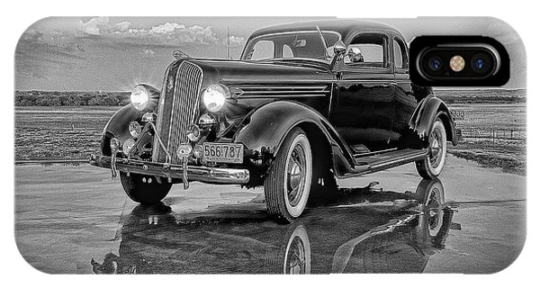 36 Plymouth Reflections Pencil Sketch IPhone Case