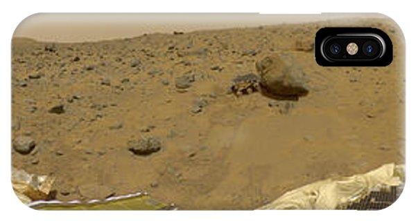 360 Degree Panorama Mars Pathfinder Landing Site IPhone Case
