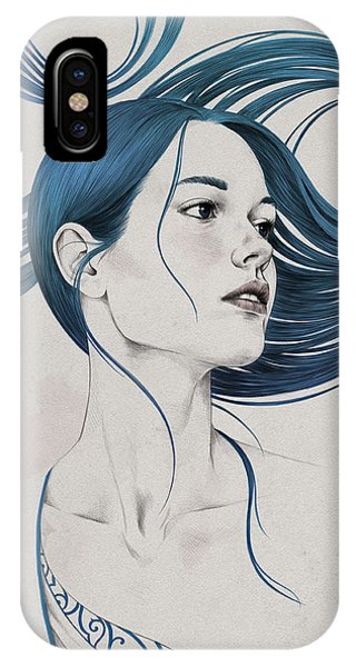 Hair iPhone Case - 361 by Diego Fernandez