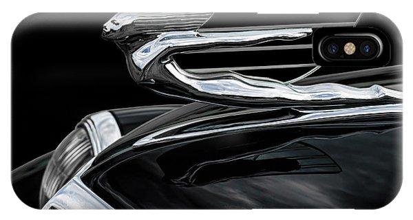 Chrome iPhone Case - 37 Cadillac Hood Angel by Douglas Pittman