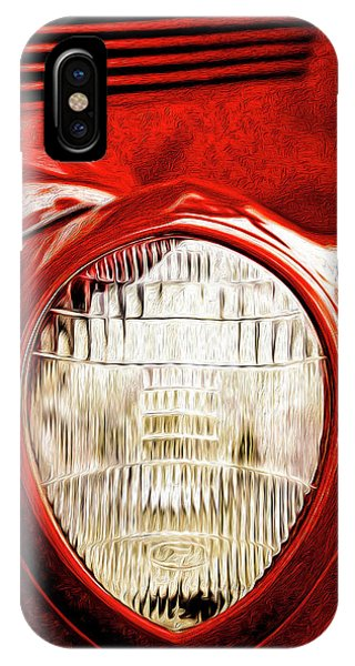 IPhone Case featuring the mixed media 37 Ford Oil Photo by Onyonet  Photo Studios