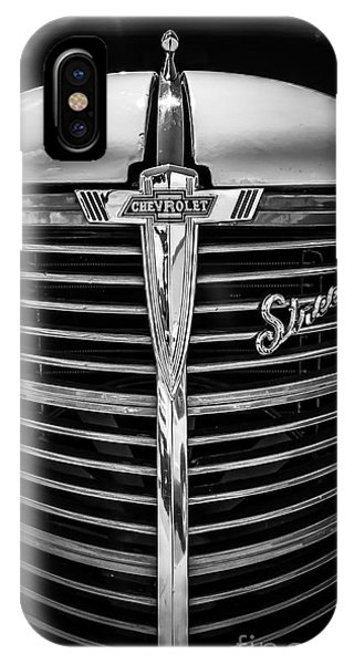 IPhone Case featuring the photograph 38 Chevy Truck Grill by Bitter Buffalo Photography