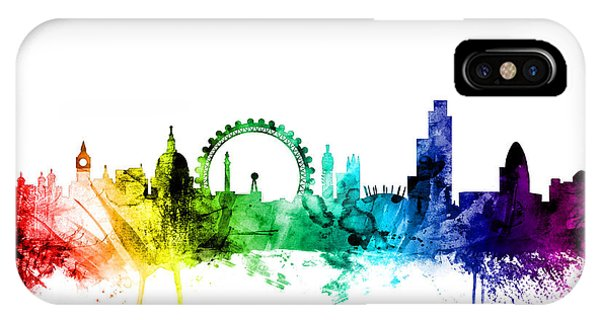 England iPhone Case - London England Skyline by Michael Tompsett