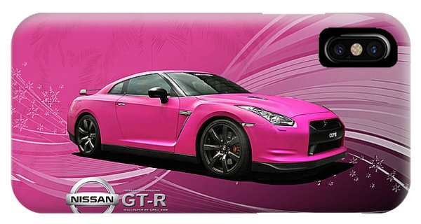 Nissan iPhone Case - 38217 Nissan Gt R  by Mery Moon