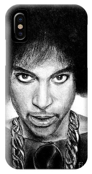 3rd Eye Girl - Prince Charcoal Portrait Drawing - Ai P Nilson IPhone Case