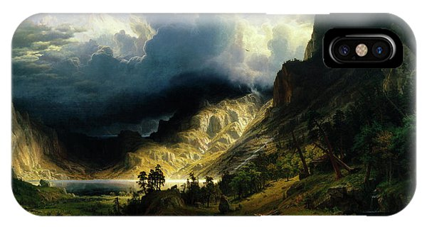 A Storm In The Rocky Mountains IPhone Case